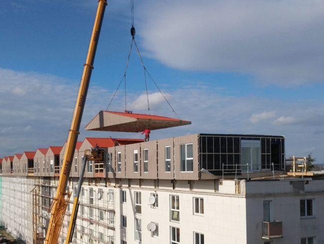 Surelevation Maison 33 1ère en france : 33 maisons modulaires en surélévation à poissy (78